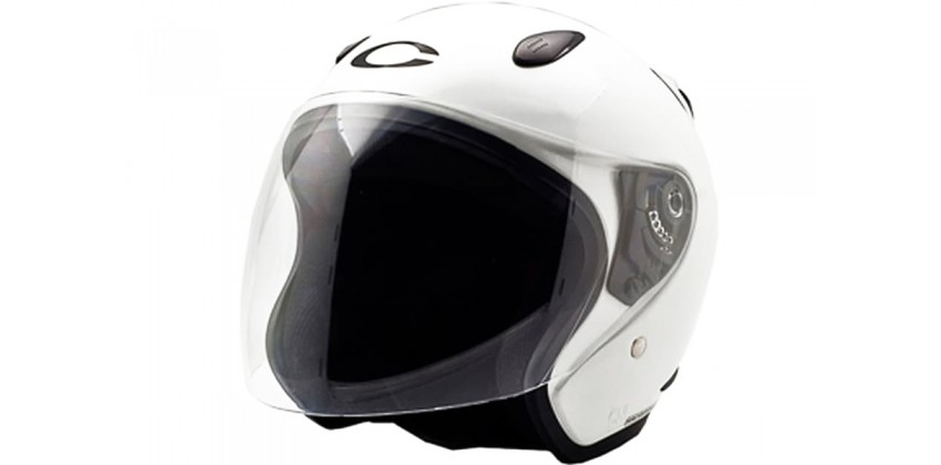 Cargloss YCN White Met 6  Helm Half-face 0