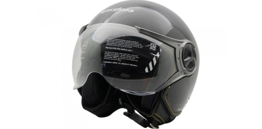 Cargloss YR Ghotic Deep Black  Helm Retro 0