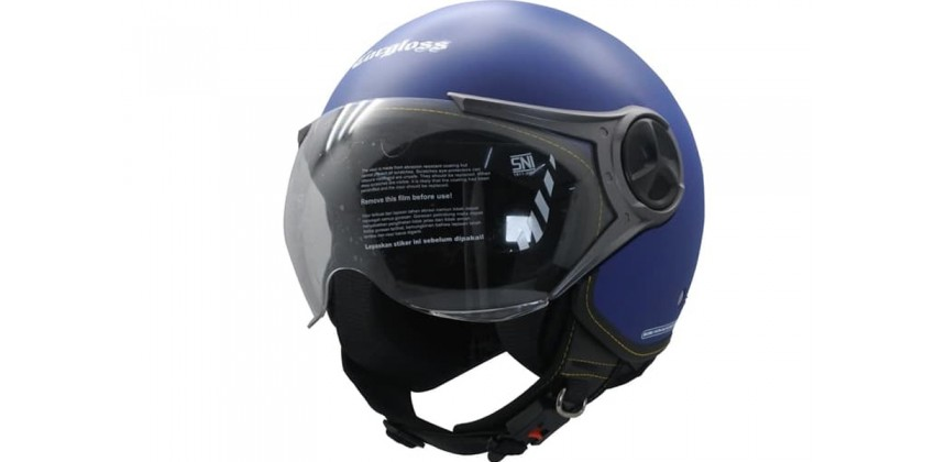 Cargloss YR Ghotic Police Blue Doff  Helm Retro 0