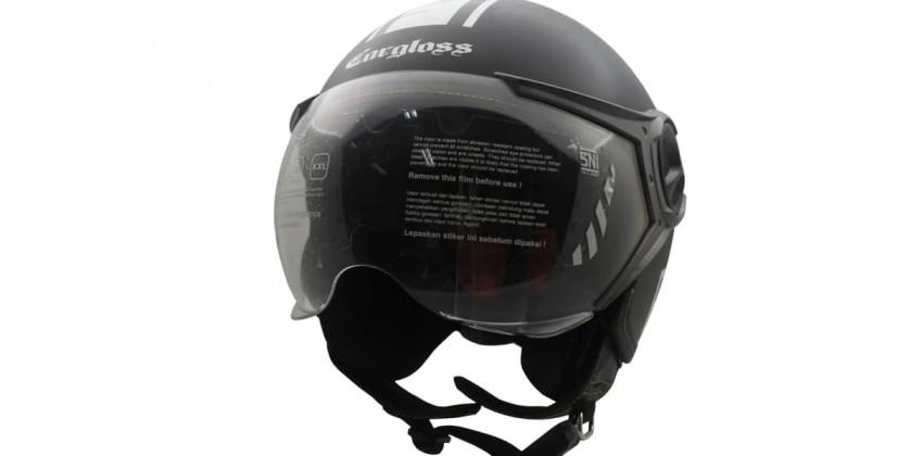 Carbon Mesh YR Protect Deep Black doff  Helm Retro 0