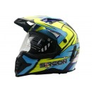 Cargloss YZF Sircon Supermoto Ice Blue  Helm Full-face 0