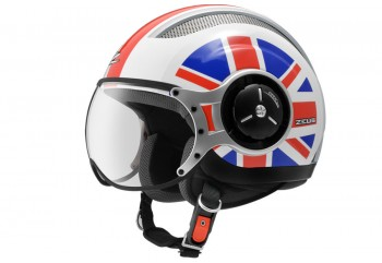 Zeus ZS-218 Two Color Helm Retro Hitam