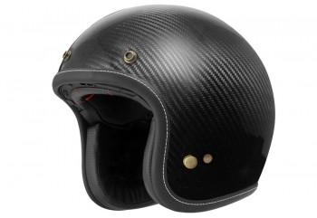 Zeus ZS-386 Carbon Helm Retro Hitam