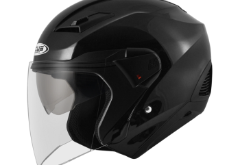 Zeus ZS-611 Solid Glossy Helm Half Face Hitam