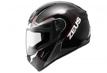 Zeus ZS-811 AL6 BK Helm Full Face Merah