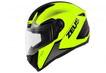 Zeus ZS-811 AL6 Fluo Helm Full Face Oranye