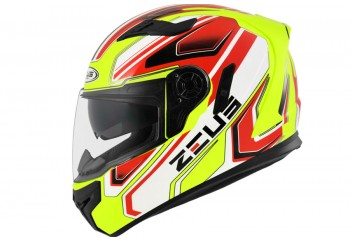 Zeus ZS-813 AN5 Fluo Helm Full Face Merah