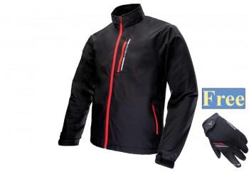 Inventzo Fiato Alpha Series Jaket Merah Free Harro Sarung Tangan Motor Full-Finger