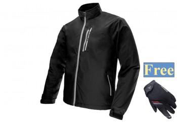 Inventzo Fiato Alpha Series Jaket Black Grey Free Harro Sarung Tangan Motor Full-Finger