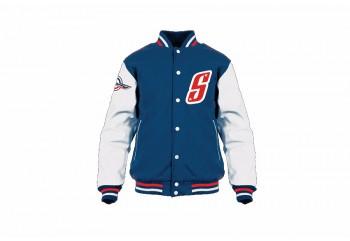 Scoopy V Jacket  Jaket Jaket Biru