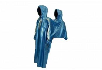 Elmondo Couple 2 Jas Hujan Ponco Biru
