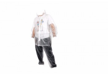 Plevia Diamond Jas Hujan Rain Coat Transparant