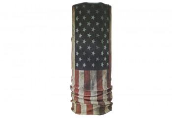 CK Bandana 1402012 Motif Usa Flag Masker Motor Buff Putih