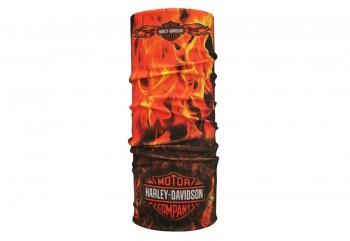 CK Bandana 1412007 Masker Motor Multifungsi Motif Harley Davidson Flames