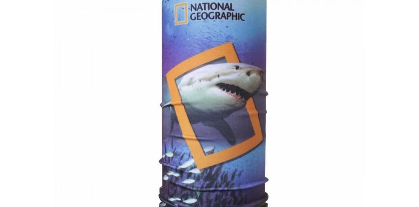 CK 1407025  Masker Motor Buff Motif NatGeo Shark 0