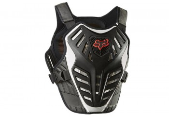 Fox Titan Race Subframe CE Rompi Jaket Motor - Black Silver [20872-464]