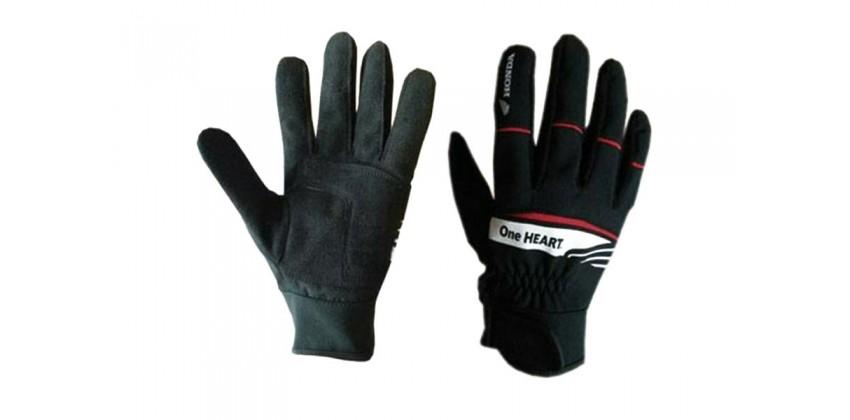 One Heart Glove Full-Finger Kain Hitam 0