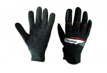 One Heart Glove Full-Finger Kain Hitam
