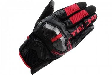RS Taichi RST427 Armed Mesh Sarung Tangan Full-Finger Merah