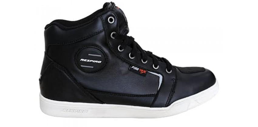 D-Trenz Ultra Leather Riding Shoe Black White 0