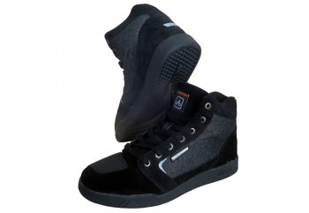 D'trenz Betha Denim Riding Shoe Black Black