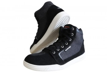 D'trenz Betha Denim Riding Shoe Black White