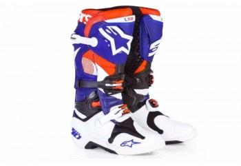 Alpinestars Tech 10 LE Indianapolis Sepatu Balap Biru Cross