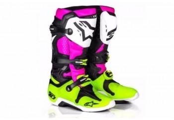 Alpinestars Tech 10 LE Radiant Sepatu Balap Kuning Cross