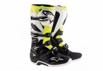 Alpinestars Tech 7 2017 Sepatu Balap Kuning Cross