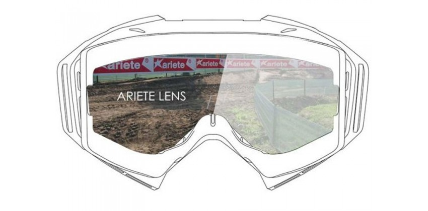 Double Cylindrical Lens : Clear Ventilated  Sunglasses & Goggles Motocross Goggle 0