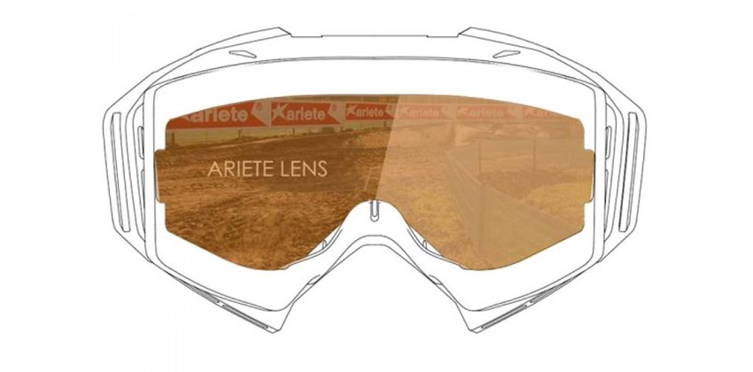 Double Cylindrical Lens : Light Coral Ventilated  Sunglasses & Goggles Motocross Goggle 0