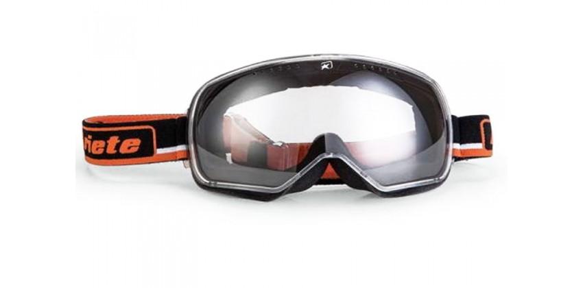 Feather Black-Orange Strap  Sunglasses & Goggles Motocross Goggle 0