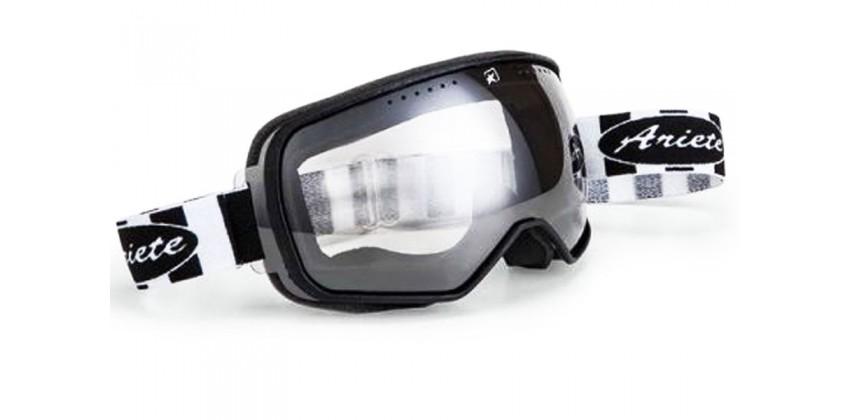 Feather Black-White Strap  Sunglasses & Goggles Motocross Goggle 0