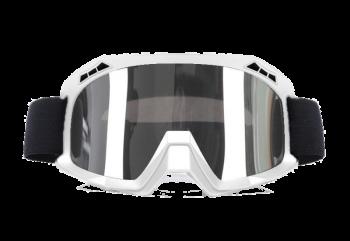ZULU Glossy Silver Goggles