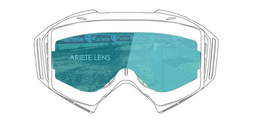 Lens with Clip : Blue Sky  Sunglasses & Goggles Motocross Goggle 0