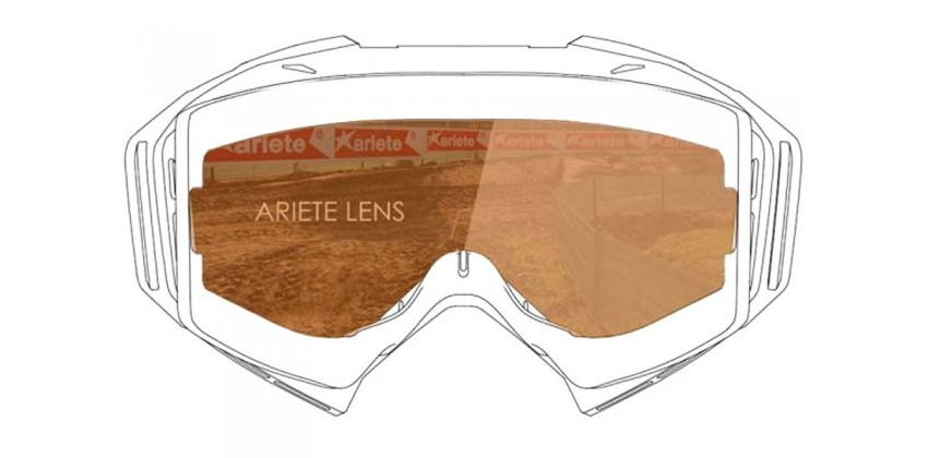 Lens with Clip : Light Coral  Sunglasses & Goggles Motocross Goggle 0