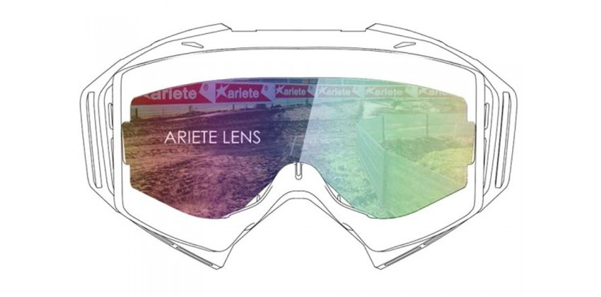Lens with Clip : Multilayer Rainbow  Sunglasses & Goggles Motocross Goggle 0