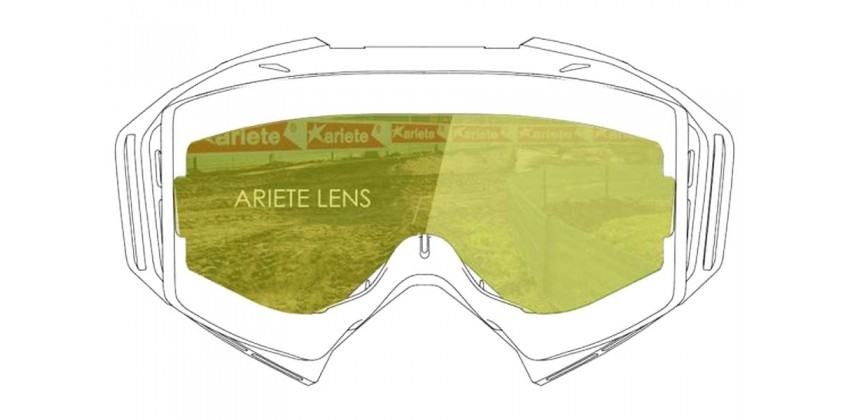 Lens with Clip : Yellow Desert  Sunglasses & Goggles Motocross Goggle 0