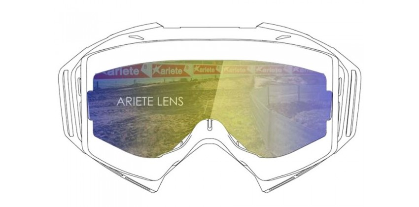 Lens with Pins : Multilayer Blue  Sunglasses & Goggles Motocross Goggle 0