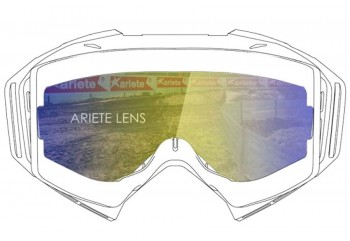 Lens with Pins : Multilayer Blue  Sunglasses & Goggles Motocross Goggle