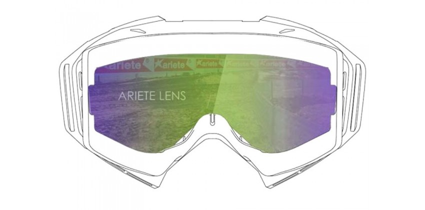 Lens with Pins : Multilayer Green  Sunglasses & Goggles Motocross Goggle 0