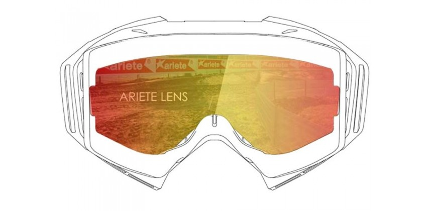 Lens with Pins : Multilayer Red  Sunglasses & Goggles Motocross Goggle 0