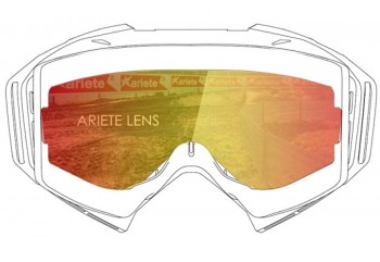Lens with Pins : Multilayer Red  Sunglasses & Goggles Motocross Goggle