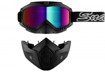 SNAIL MX 20 Double Mask Blue Goggles
