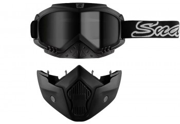 Snail Goggle MX 20 Double Mask Silver