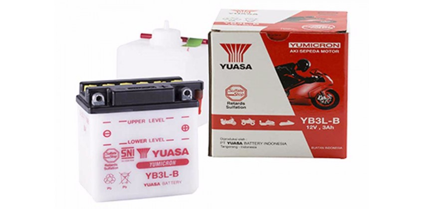 YB3L-B-BA Aki Motor Aki Basah 0