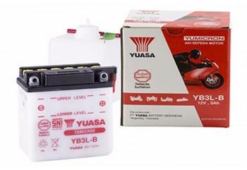 Yuasa YB3L-B-BA Aki Motor Basah