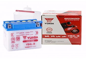 Yuasa YB4L-B-(BA) Aki Motor Basah