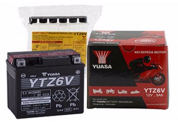 Yuasa YTZ6-V Aki Motor Kering