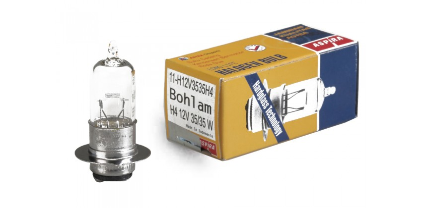 Aspira 11-H12V3535H4 Bohlam Depan Halogen 0